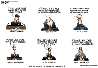 The evolution of morality cartoon